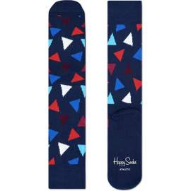Skarpety Happy Socks athlethic triangles niebieskie