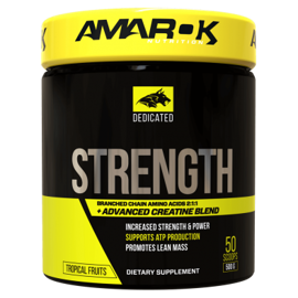 Suplementacja Amarok Dedicated BCAA + Strength 500g
