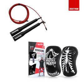 Zestaw Stabilizatory kolana (para) RockTape Skull 5 mm + Skakanka Thorn Fit Speed Rope 2.0
